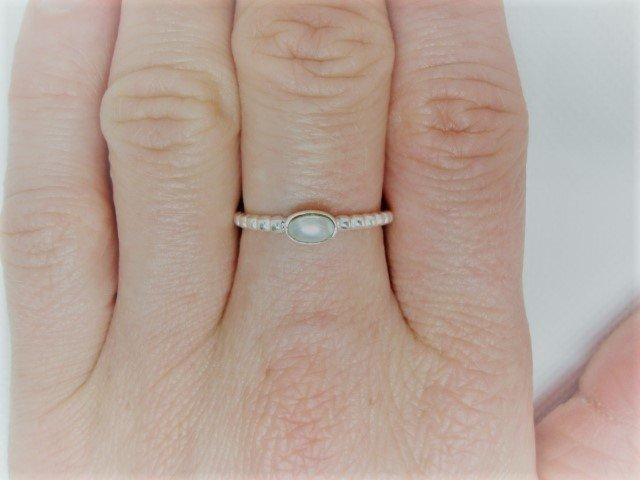 Zilveren ring met een parel