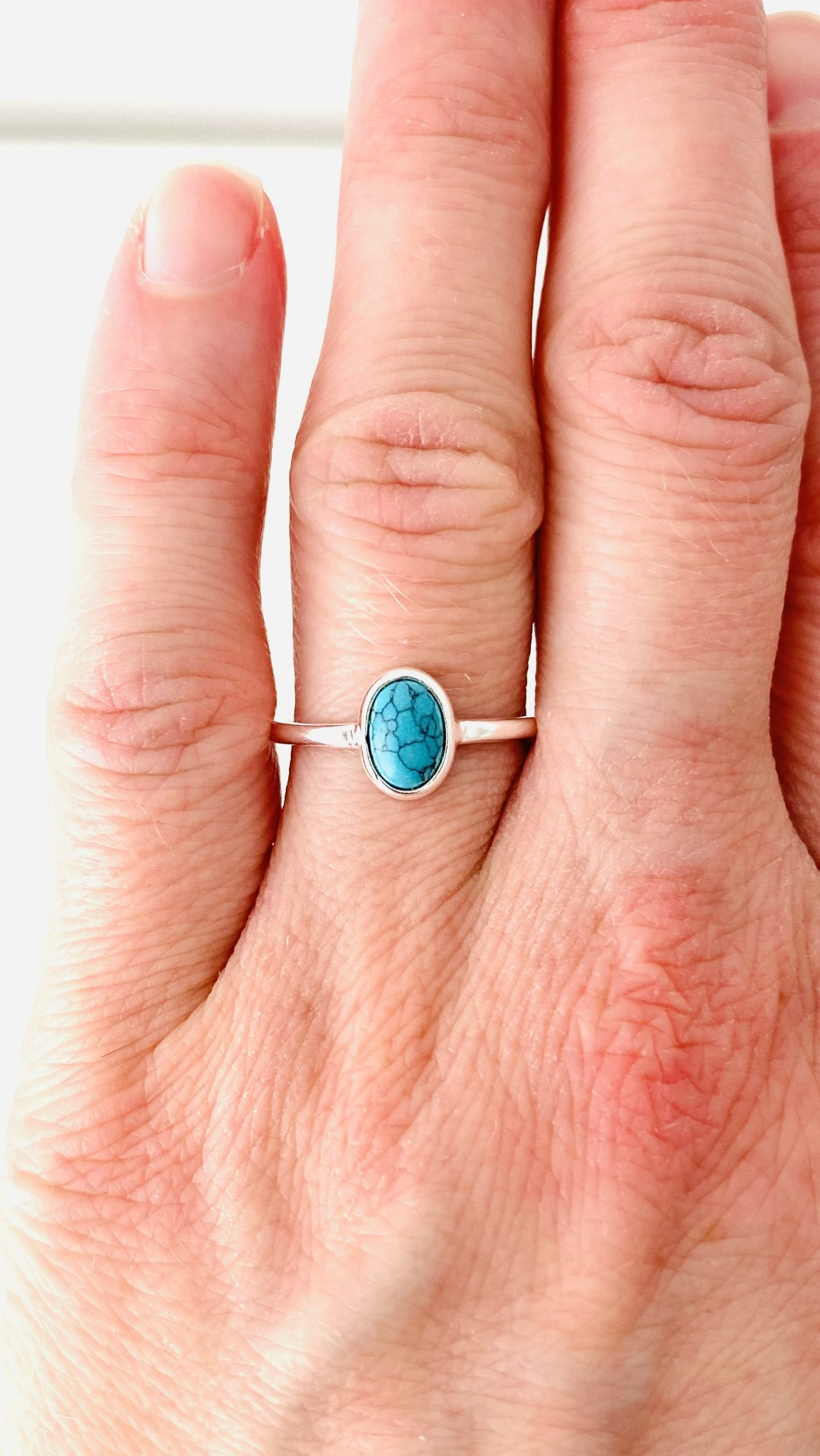 Zilveren ring met turkoois